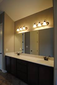 Mirrored Bathroom Vanities Bathroom Vanity Lighting Allen Roth Vallymede 3light 102in Aged