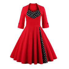 vintage christmas cocktail party aliexpress com buy women cotton vintage dress 50s christmas