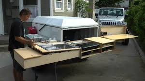Diy Hard Floor Camper Trailer Plans Dominion Offroad Trailer Kitchen Youtube
