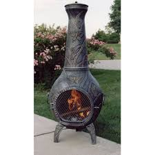 Cooking On A Chiminea Oakland Living Butterfly Cast Iron Wood Burning Chiminea U0026 Reviews