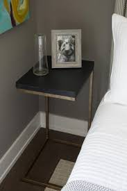 nightstand breathtaking orange nightstand walnut black metal