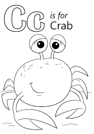 Letter C Is For Crab Coloring Page Download Education Letter C Crab Coloring Page