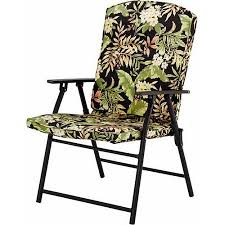 Folding Patio Furniture Set by Mainstays Outdoor Padded Folding Chairs Set Of 2 Multiple Colors