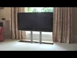 auto raising tv cabinet future automation plasma tv hidden in floor youtube