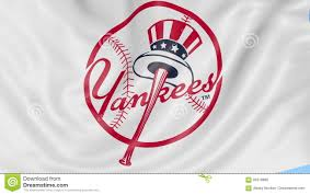 Yankee Flags Close Up Of Waving Flag With New York Yankees Mlb Baseball Team