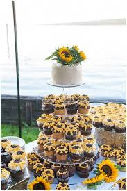 sunflower wedding decorations the 25 best sunflower wedding cupcakes ideas on