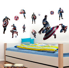Captain America Bedroom by 3d Super Hero Captain America Wall Stickers For Kid Bedroom Cozy