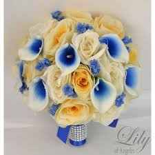 picasso calla royal blue ivory yellow picasso calla