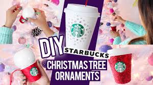diy starbucks ornaments christmas tree decor ideas youtube