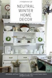 A M Home Decor Neutral Winter Home Decor A Hop