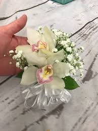 white orchid corsage white and pink orchid corsage in scottsdale az le bouquet