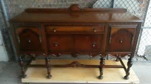 antique wood buffet sideboard server credenza cabinet excel mfg