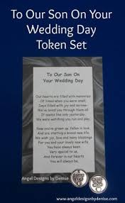 his and wedding gifts to my on your wedding day token set this poem with a pewter