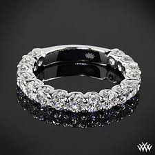 shine wedding band 1 60ctw platinum s u prong three quarter diamond wedding
