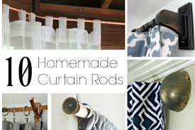 Make Your Own Curtain Rod No Sew Curtains For The Dining Room