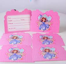 shop 10pcs lot baby shower sofia princess theme cartoon