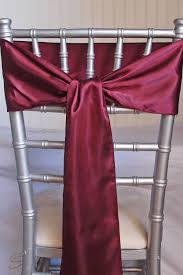 burgundy satin chair sashes 6x106