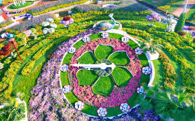 pictures of a garden the world s biggest flower garden sits in the middle of a desert