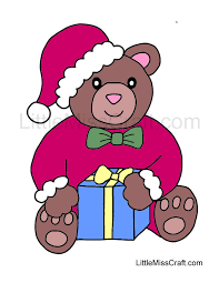 crafts christmas bear coloring