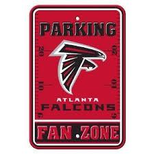 the sports fan zone amazon com nfl atlanta falcons fan zone parking sign sports fan