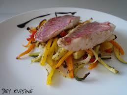 cuisiner le rouget dey cuisine filets de rouget aux légumes rotis