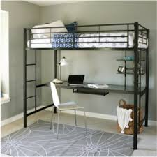 Top Bunk Bed With Desk Underneath Bunk Beds Loft Beds With Desks Wayfair