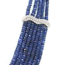sapphire bead necklace images Important sapphire bead diamond necklace at reliable gold in jpg