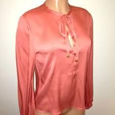 diane von furstenberg pelier v neck silk blouse