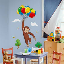 Cool Bedroom Wall Stickers For Kids Interior Design Inspirations - Curious george bedroom set