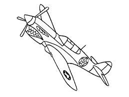 easy airplane coloring pages kids print free coloring