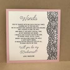 will you be my bridesmaid poem new will you be my bridesmaid card of honor