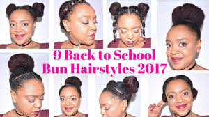9 back to bun hairstyles 2017 for medium length natural