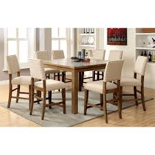 steve crosspointe 9 piece counter height dining table set