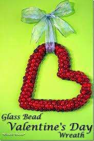 s day wreaths diy glass bead s day wreath wreaths and heart wreath