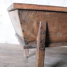rustic solid oak dough trough coffee table pedlars