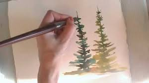 how to paint in watercolor summer u0026 spring trees youtube