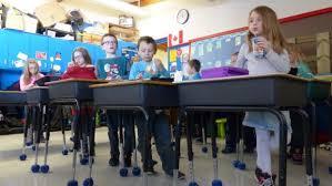 Standing Desks For Students Grade 1 Delisle Students Benefit From Stand Up Desks Justin Sauer