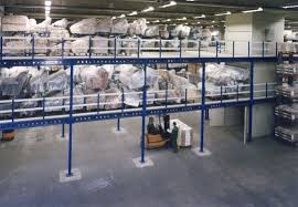 Industrial Flooring Industrial Mezzanine With Racking System For Pallets For