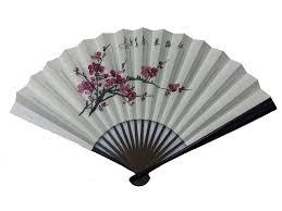 silk fan no 525 painted folding silk fan large