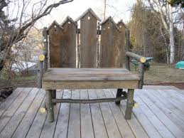 rustic garden bench treenovation