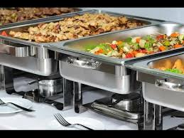 buffet equipment chafing dishes dinner plates cutlery etc