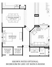 3 Bedroom Floor Plans With Bonus Room by Toll Brothers At Blackstone The Blackstone Collection The