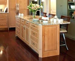 kitchen island with sink and seating medium sized kitchen with island average size depth of seating