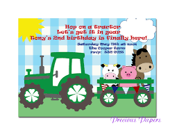 tractor birthday invitations u2013 gangcraft net