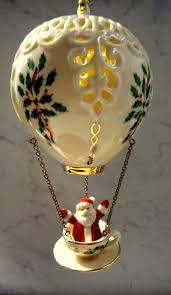 lenox 2002 annual air balloon ornament santa in teacup