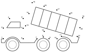 dump truck connect the dots count by 1 u0027s transportation
