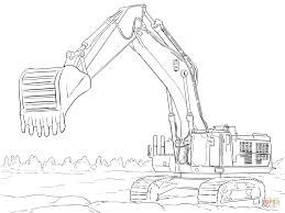 caterpillar excavator coloring page free printable coloring pages