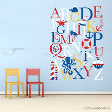 Children Wall Decals Alphabet Wall Decal Alphabet Decal Nautical Nursery Wall
