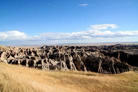 Bad Lands Badlands National Park South Dakota Graslandschaften