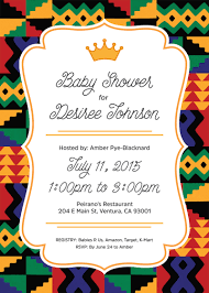 an african prince baby shower invite inspired by kente cloth